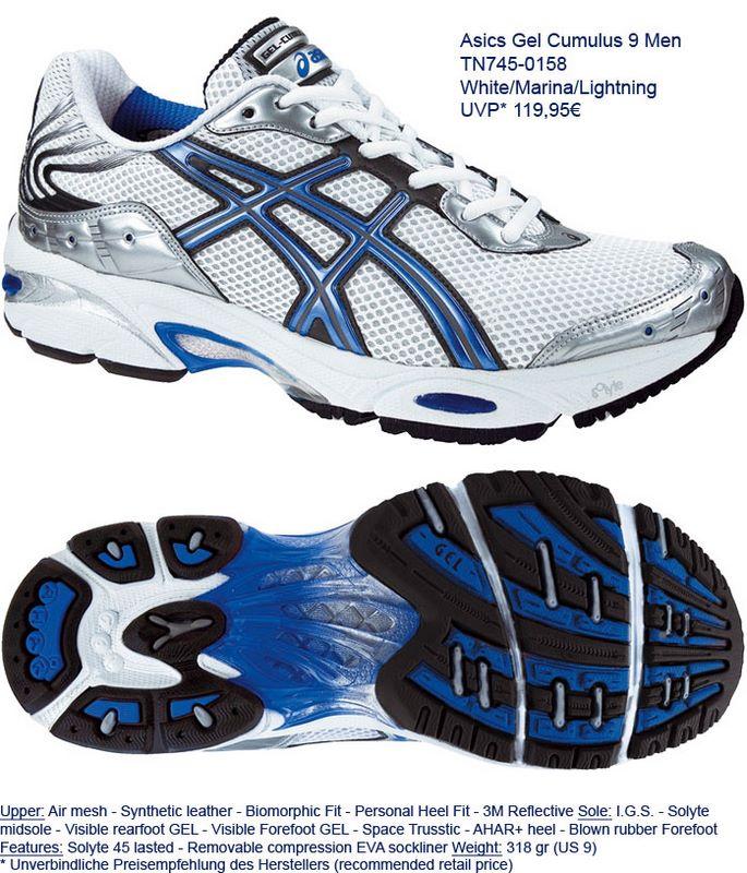 asics cumulus 9 running shoe