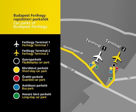 budapest térkép ferihegy Liszt Ferenc reptér parkolás díjak árak térkép reptéri ingyenes  budapest térkép ferihegy