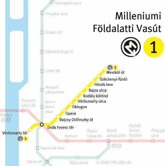 M3 metró útvonala