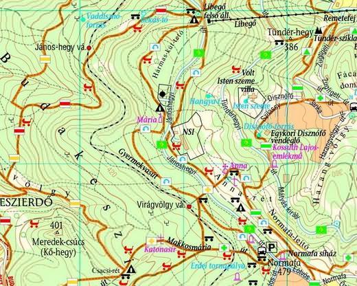 budapest normafa térkép Normafa térkép, Turistautak, Túra és Futás útvonalak budapest normafa térkép