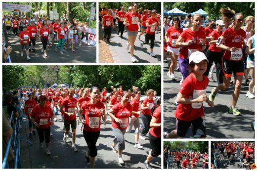 futás és gyaloglás a Coca-Cola Testébresztő Női Futógálán a Margitszigeten