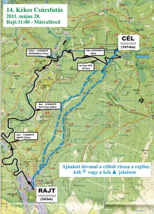 mátrafüred térkép Kékes Csúcsfutás   futás az ország legmasabb csúcsára a Kékestetőre mátrafüred térkép