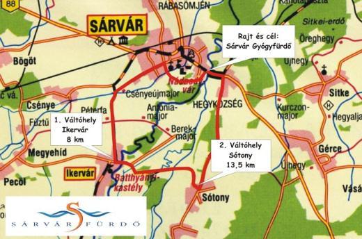ikervár térkép Sárvár Fürdő Félmaraton Futóverseny | sárvári futóverseny futás