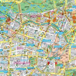 berlin térkép Berlin térkép, Berlin látnivalóinak és nevezetességeinek térképe  berlin térkép