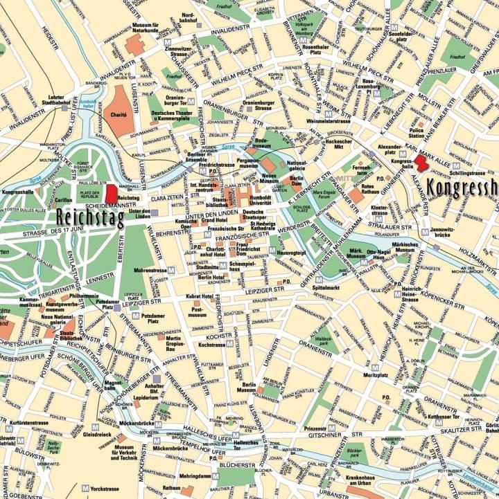 berlin látnivalók térkép Berlin térkép, Berlin látnivalóinak és nevezetességeinek térképe  berlin látnivalók térkép