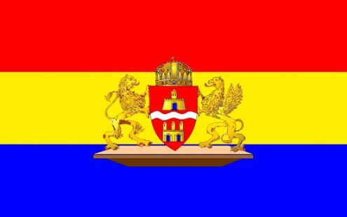 Budapest Zászló román színekkel
