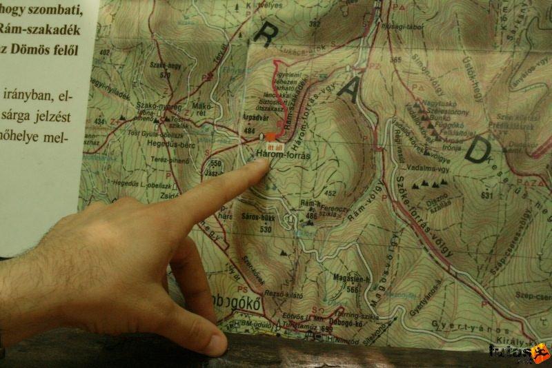 dömös térkép Rám szakadék túra útvonala Rám szakadék térkép dömös térkép