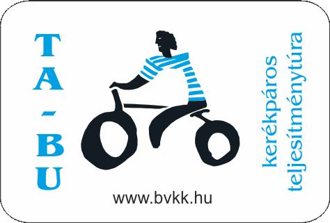 Tatabánya Budapest kerékpáros teljesítménytúra kitűző logó