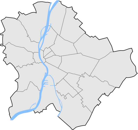 budapest térkép kerületek Budapest kerületei térképen