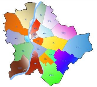 Térkép Budapest Kerületei