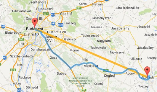 Budapest Tavolsaga Terkepen Legvonalban Es Autoval Kozlekedesi