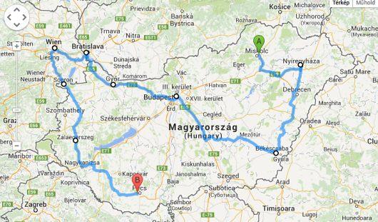 Európa útvonaltervező autós térkép
