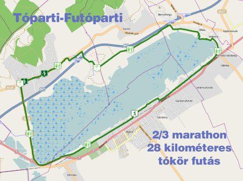 Velencei-tó kerékpárút térképe